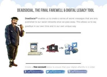 Instead of shutting down your Facebook or Twitter accounts, British online service DeadSocial allows you keep sending messages from beyond the grave.